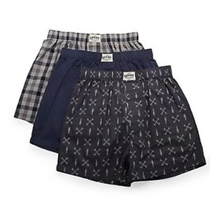 Lucky Brand 3 pack woven boxers L 36 38